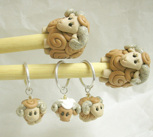 *GOATS* knitting needles & stitch markers set