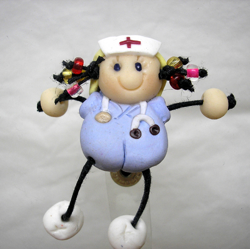 *NURSE #7* badge clip for ID cards