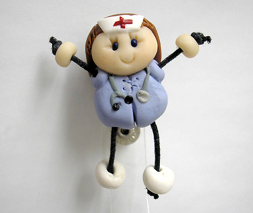 *NURSE #6* badge clip for ID cards