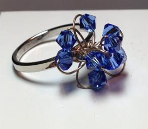*THE ROYALE BLUE SENSATION* Crystal Swarovski beads