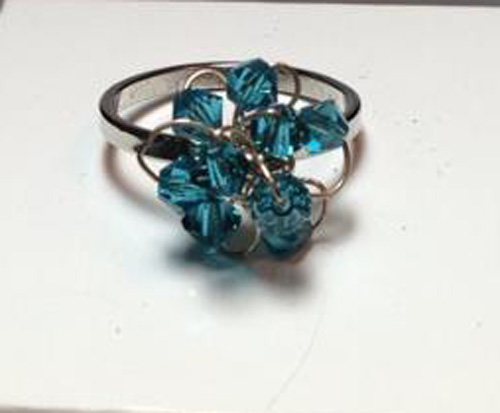 *THE BLUE SENSATION* Crystal Swarovski beads