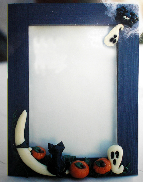 *HALLOWEEN* 5X7 navy picture frame