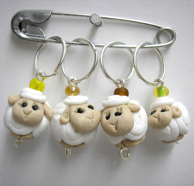 *SHEEPS* stitch markers (set of 4 )